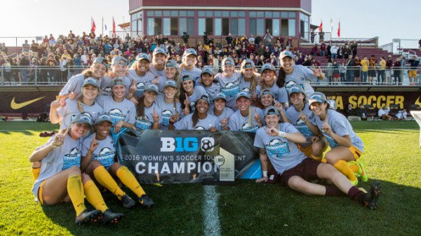 2016 - University of Minnesota Gopher Women Soccer hosts B1G Championship game against Rutgers